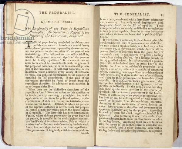 The Federalist, published in 1788 (print)