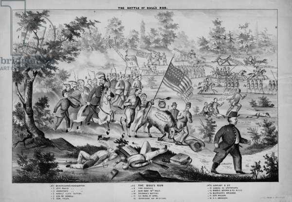 The Battle of Bull's Run, c.1861 (litho)
