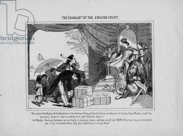 """The """"Chivalry"""" at the English Court, c. 1860 (litho)"""
