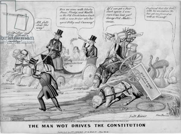 The man wot drives the constitution, published by J Childs, New York, 1844 (litho)