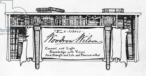 Bookplate of President Woodrow Wilson (1856-1924) (print)