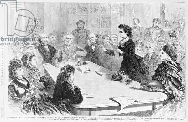 Washington D.C. The Judiciary Committee..., from 'Frank Leslie's Illustrated Newspaper', 1871 (litho)