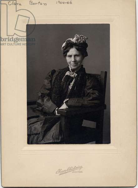 Clara Barton (1821-1912), founder of the American Red Cross, photo by Elmer Chickering of Boston, c.1904-06 (silver bromide photo)