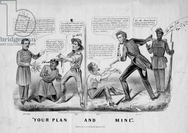 Your plan and mine, published by Currier and Ives, New York, c.1864 (litho)