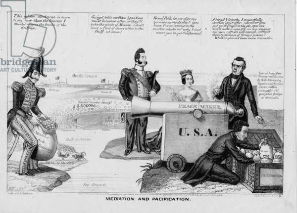Mediation and pacification, published by H R Robinson, New York, 1846 (litho)