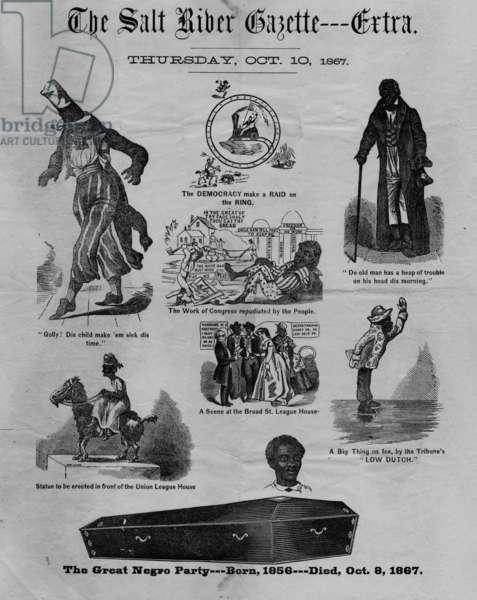 The Salt River gazette: extra, 1867 (litho)