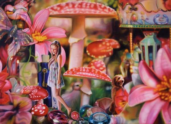 Alannah in Wonderland, 2013, (oil on canvas)