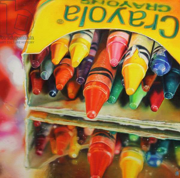 Andy's Crayons, 2014, (oil on canvas)