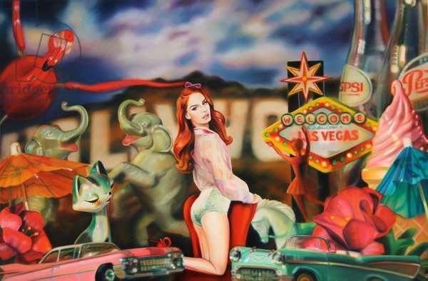Lana Americana, 2013, (oil on canvas)