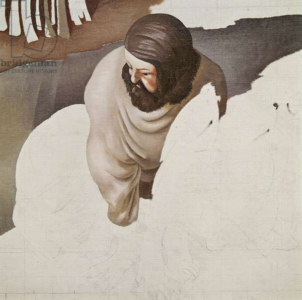 Unfinished Panel from the 'Christ in the Wilderness' Series, 1939