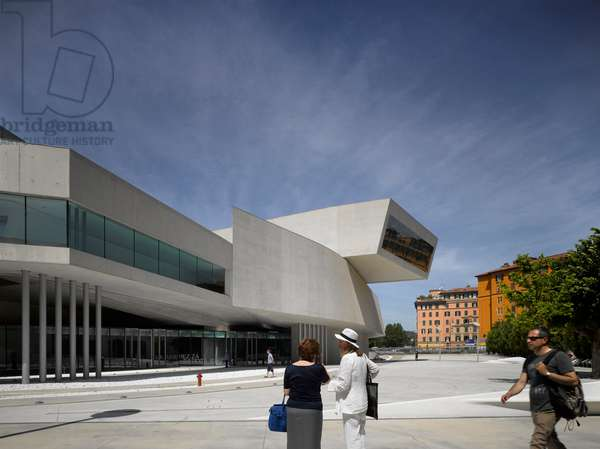 External view of the MAXXI, National Museum of 21st Century Arts, Rome, Italy (photo)
