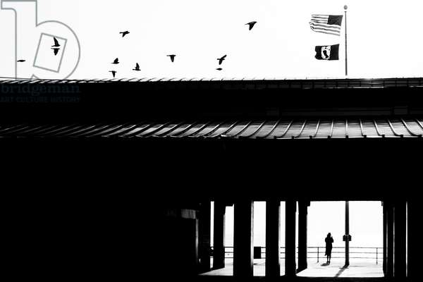 Coney Island, 2019 (black and white photo)