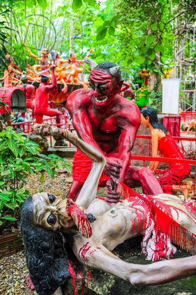 Buddhist Garden of Hell, Wat Mae Kaet Noi, near Chiang Mai, Thailand (photo)