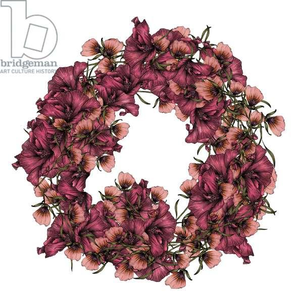 Petal Wreath, 2020, (digital drawing)