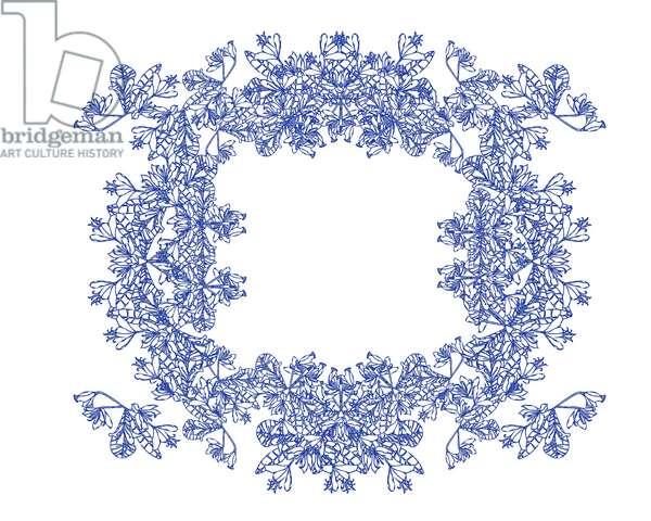 Blue Floral Wreath, 2020 (digital)