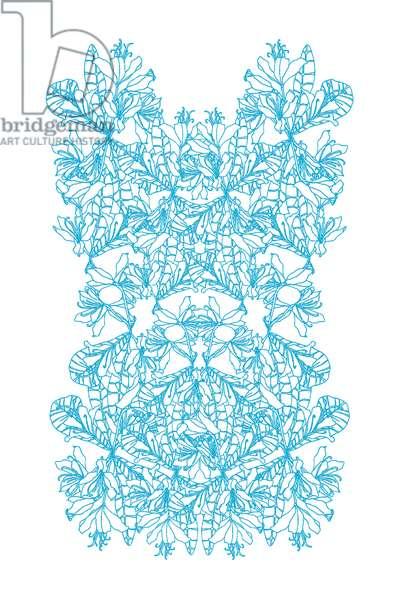 Flower Wall Turquoise, 2020 (digital)