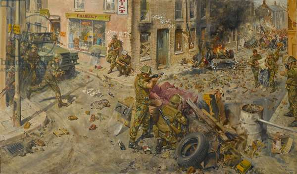 The Tragedy of Ulster, 1976 (oil on canvas)