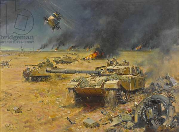 The Gulf War, 1991 (oil on canvas)
