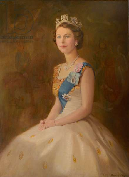 HM Queen Elizabeth II (oil on canvas)