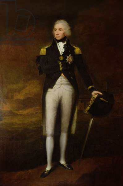 Portrait of Admiral Viscount Nelson (1758-1805) (oil on canvas)