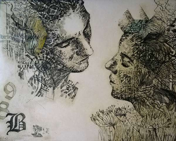 Confession, 2017, (etching)