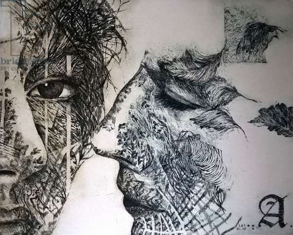Whispers, 2017, (etching)