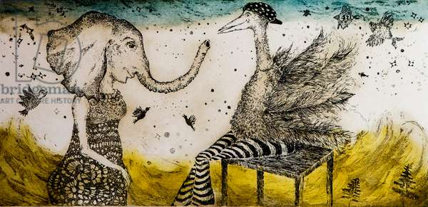 I was coming to you, 2010, (etching)