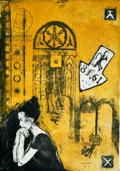 At the gates of silence, 2001, (etching)
