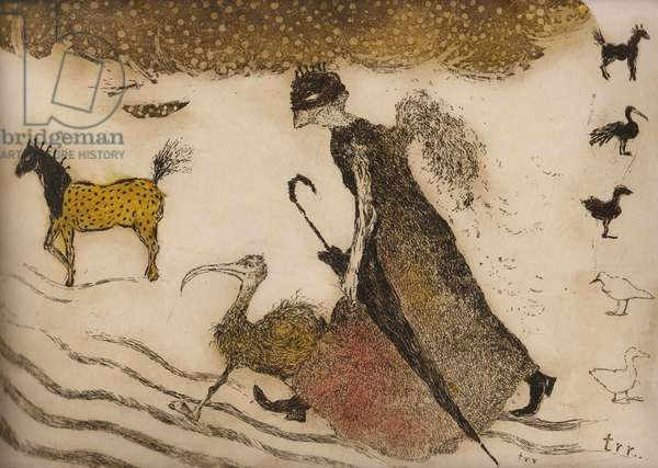 We will not give up a single step, 2011, (etching)