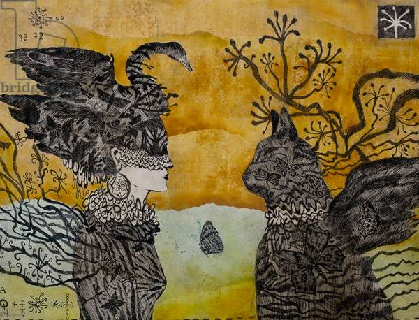 Dreamed loves, 2011, (etching)