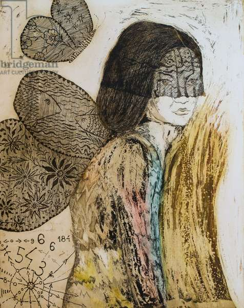 Angel time, 2015, (etching)