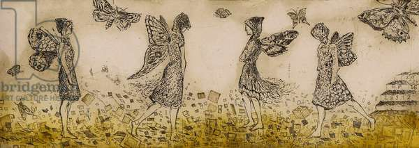 Where butterflies are found, 2016, (etching)