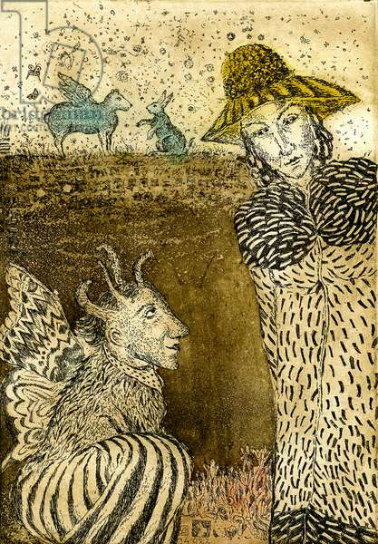 To temptation, 2015, (etching)