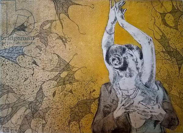 In love embrace, 2016, (etching)