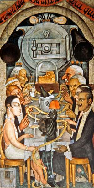 Wall Street Banquet, from the Court of Fiestas (mural)