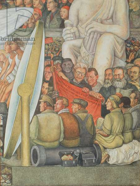 Man at the Crossroads, detail of Trotsky, 1934 (mural)