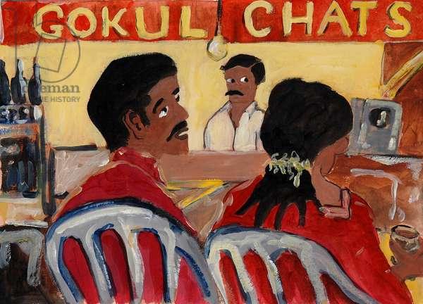 Gokul Chats, 2008, (acrylic on khadi paper)
