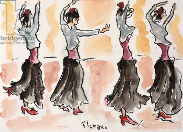 Flamenco Dance, 2016, (watercolour on paper)