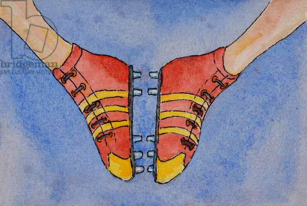 Football Boots, 2000,  (watercolour on paper)