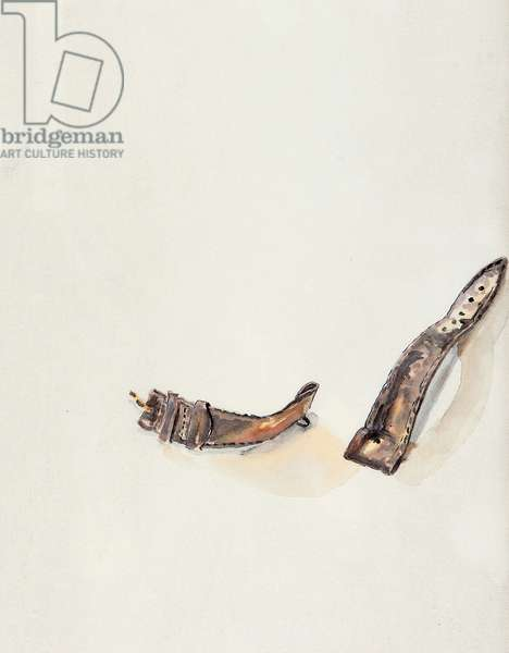 Broken Watch Strap, 2000, (watercolour on paper)