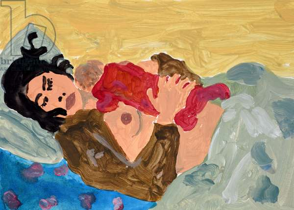 Mother and Baby, 2005, (acrylic on paper)
