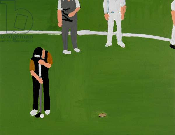 Playing Golf, 2006, (oil on canvas)