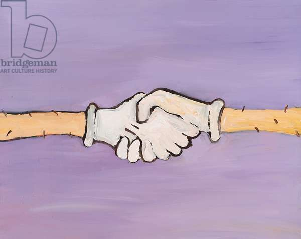 Shaking Hands, 2013, (oil on canvas)