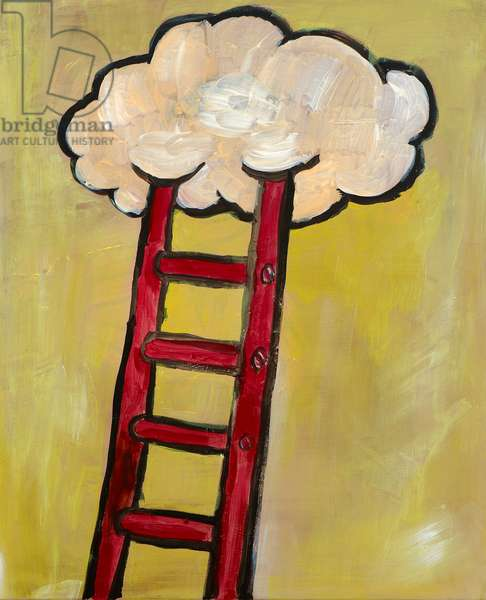 Ladder to the Sky, 2012, (oil on canvas)