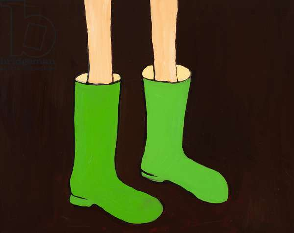 Green Rubber Boots, 2012, (oil on canvas)