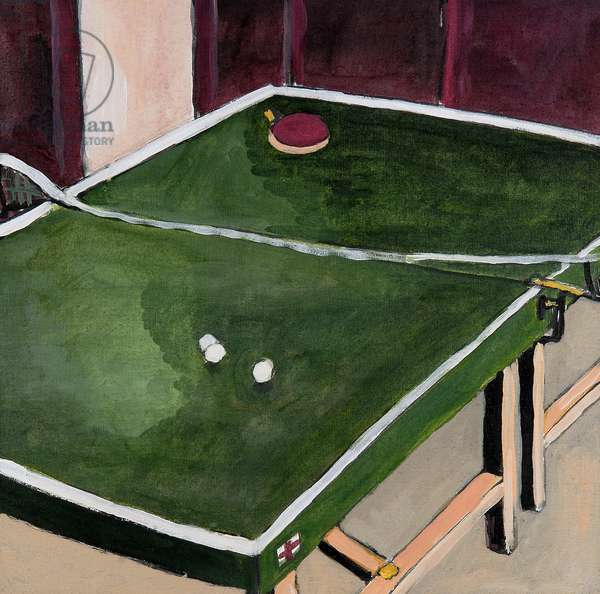Table Tennis Game, 2008, (oil on canvas)