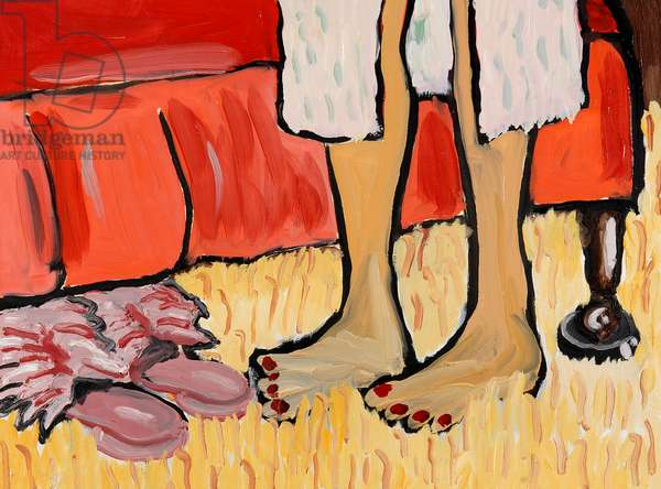 Freudian Slippers, 2000, (oil on canvas