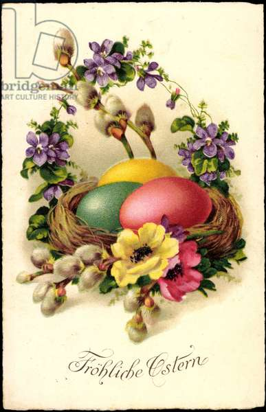 Congratulations Easter, Easter eggs, willow bib
