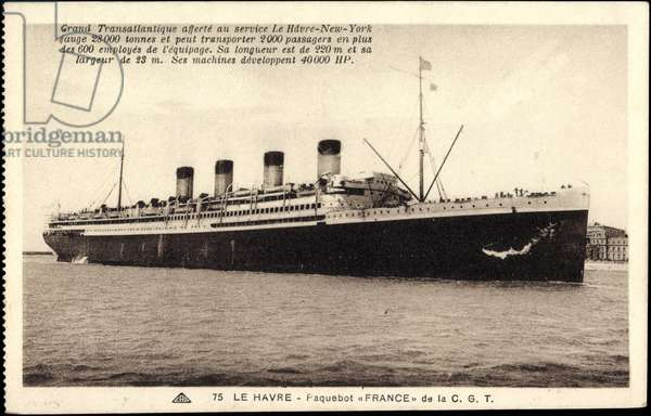 French Line, CGT, Transatlantic France, liner