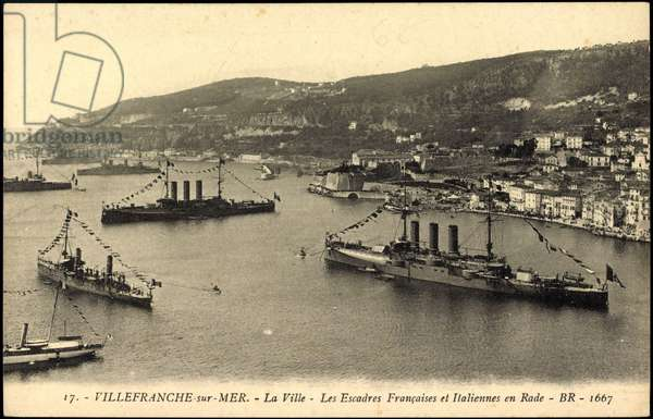 French warships, Villefranche, Escadres